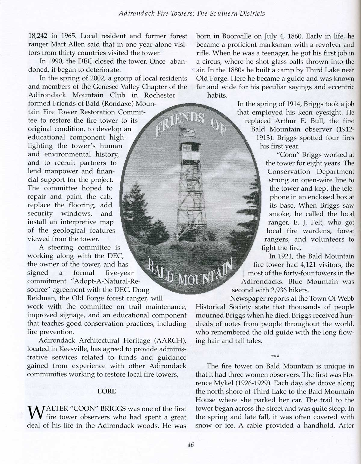 Adirondack Fire Towers: Southern Districts