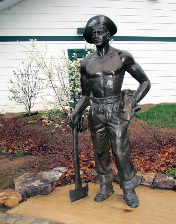 CCC Worker Statue